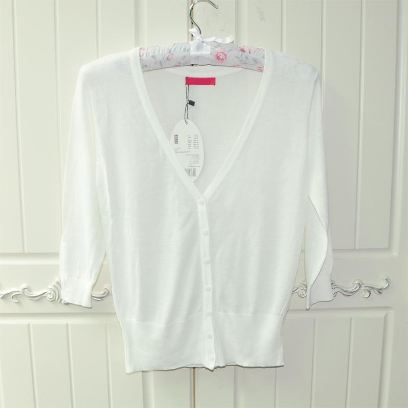 防晒衫女开衫超薄 针织短款韩版空调衫外套夏外搭糖果色针织开衫