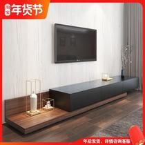 巖板電視柜茶幾組合現代簡約客廳小戶型輕奢電視機柜淺灰色高柜