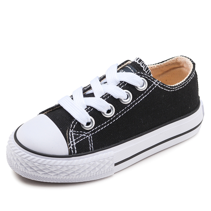 OPOEE兒童帆布鞋親子球鞋男童 女童鞋子寶寶嬰兒布鞋白色 2017