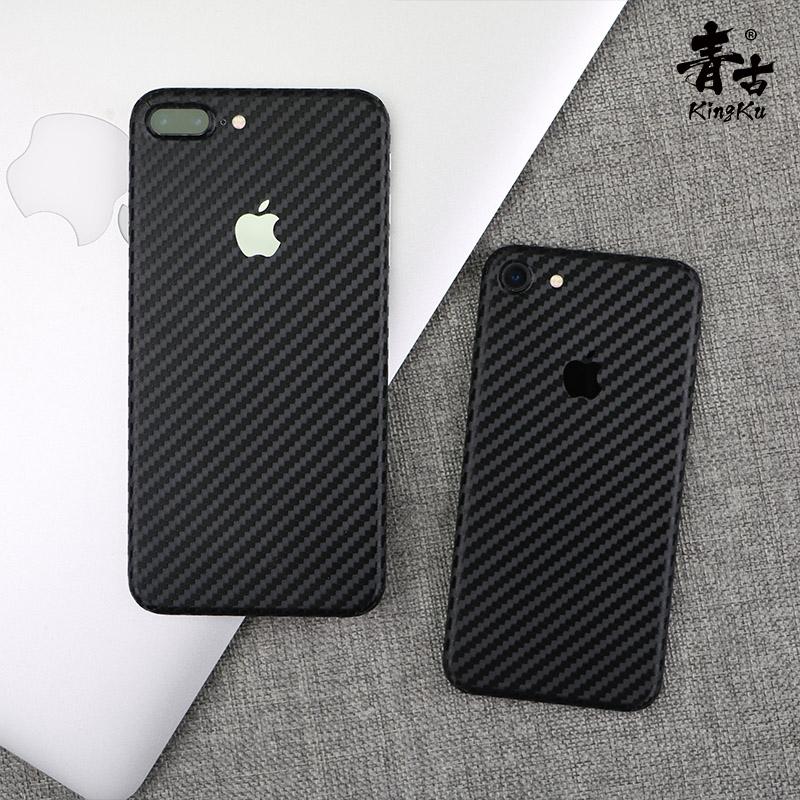 青古 iphone手机彩膜 iPhone7贴纸碳纤 创意背贴iPhoneX改色包邮