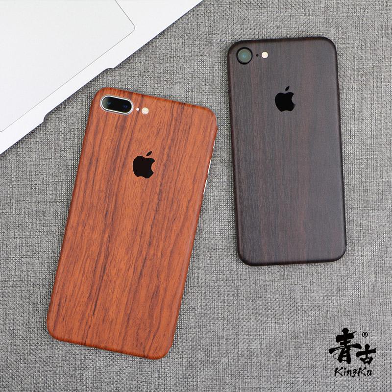 iphone8手机配件木纹贴纸7plus手机贴膜iphone X装饰背膜彩膜贴纸