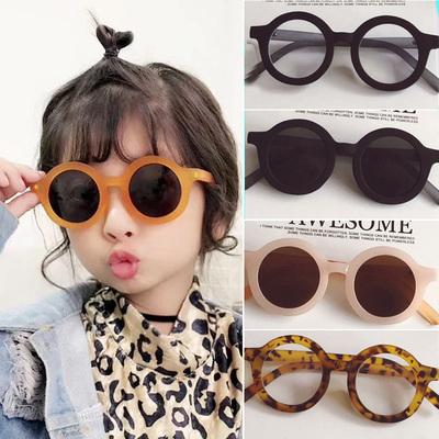 宝宝太阳眼镜潮圆框儿童眼镜太阳镜男童女童墨镜韩国防紫外线眼镜