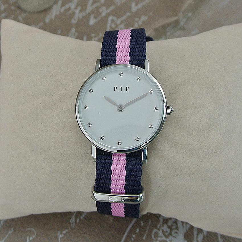 外贸原单手表 帆布带小巧文静女表镶钻表盘26mm 学生表 送女朋友