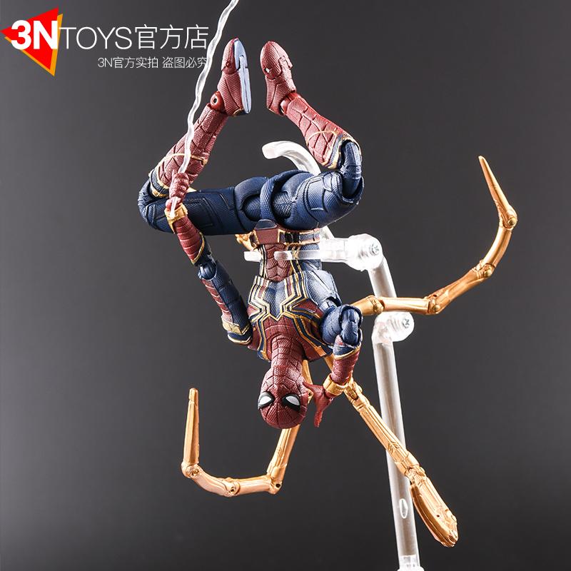 3NToys钢铁蜘蛛侠手办shf英雄远征关节可动玩偶模型复联4七夕礼物
