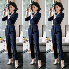 Suit suit women's professional suit 2019 new interview formal dress women's temperament long sleeve suit women's work suit