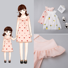 Maternal and Child Dresses Summer Dresses for Girls
