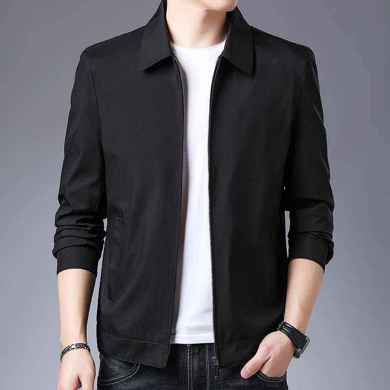 Civil servant clothing mens jacket coat lapel spring and autumn middle-aged and young peoples casual wear versatile business wear mens wear