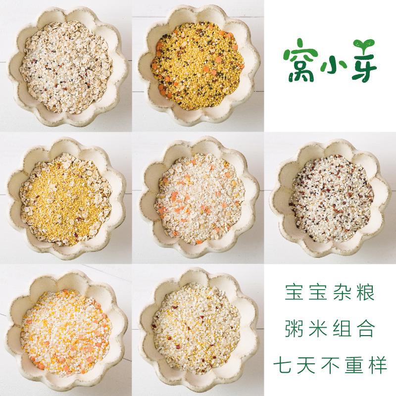 窝小芽宝宝粥辅食营养粥儿童营养食品小米粥早餐送婴儿幼儿粥食谱