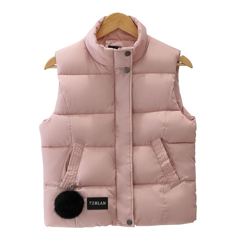 2019秋冬季毛球羽绒棉马甲女装新款女式韩版修身棉马夹坎肩短外套