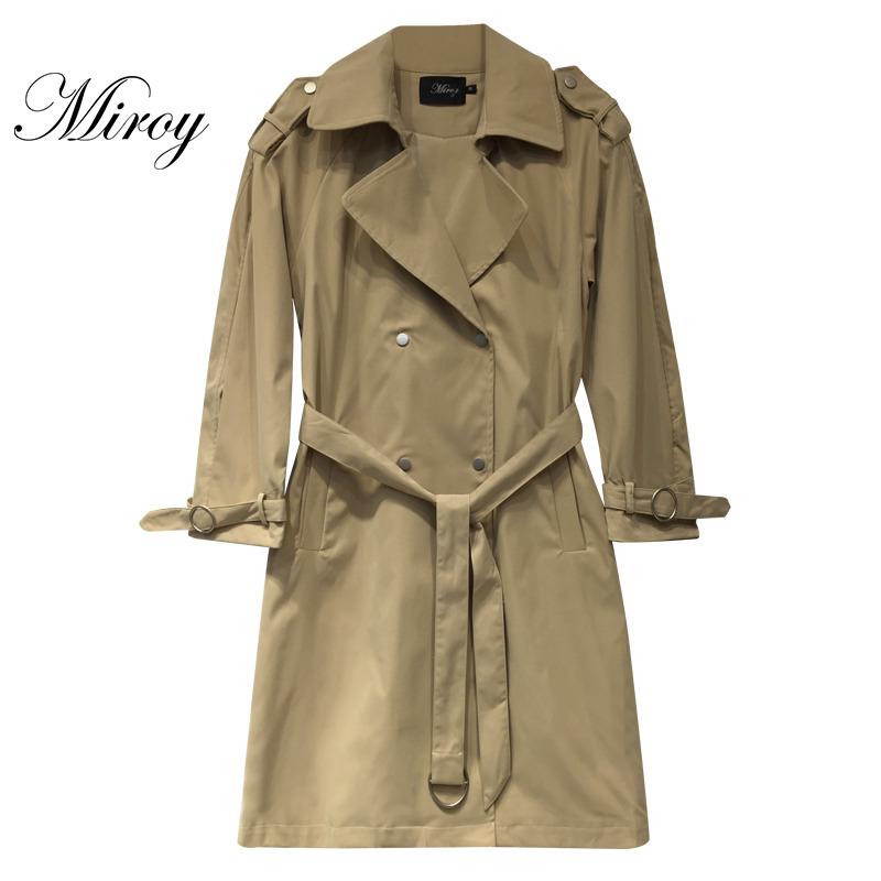 麦诺伊2019冬装新款女简约百搭气质风衣外套MR229418017图片