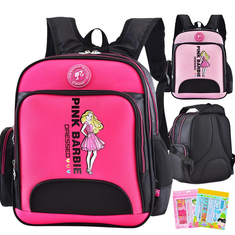 芭比書包小學生女童兒童1~3一三年級減負 女孩公主雙肩背包2~6