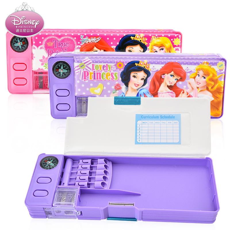 迪士尼鉛筆盒筆袋小學生韓國公主多 兒童文具盒男女孩學習用品