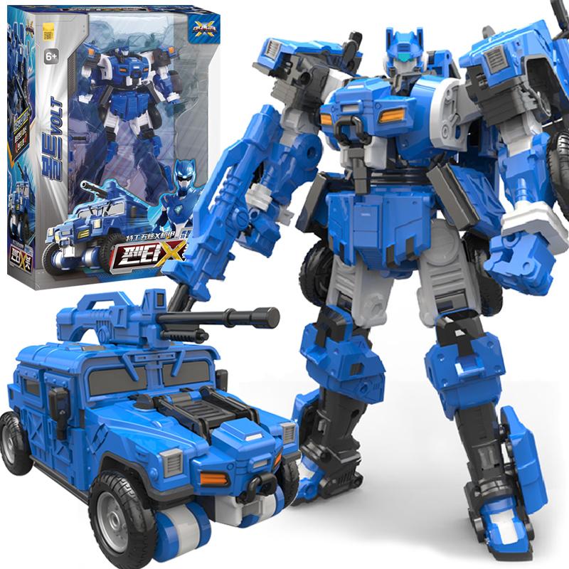 正版迷你特工队X弗特机甲变形机器人金刚汽车五炫米米男孩玩具