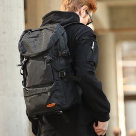 大容量双肩包男行李旅游背包简约休闲书包潮户外轻便登山女旅行包