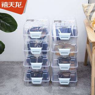 【禧天龙】禧天龙组合收纳透明鞋盒6个装