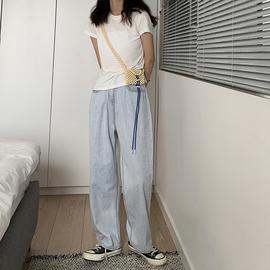 大码牛仔裤宽松薄款夏装新款2020女装直筒胖妹妹阔腿女裤子显瘦潮图片