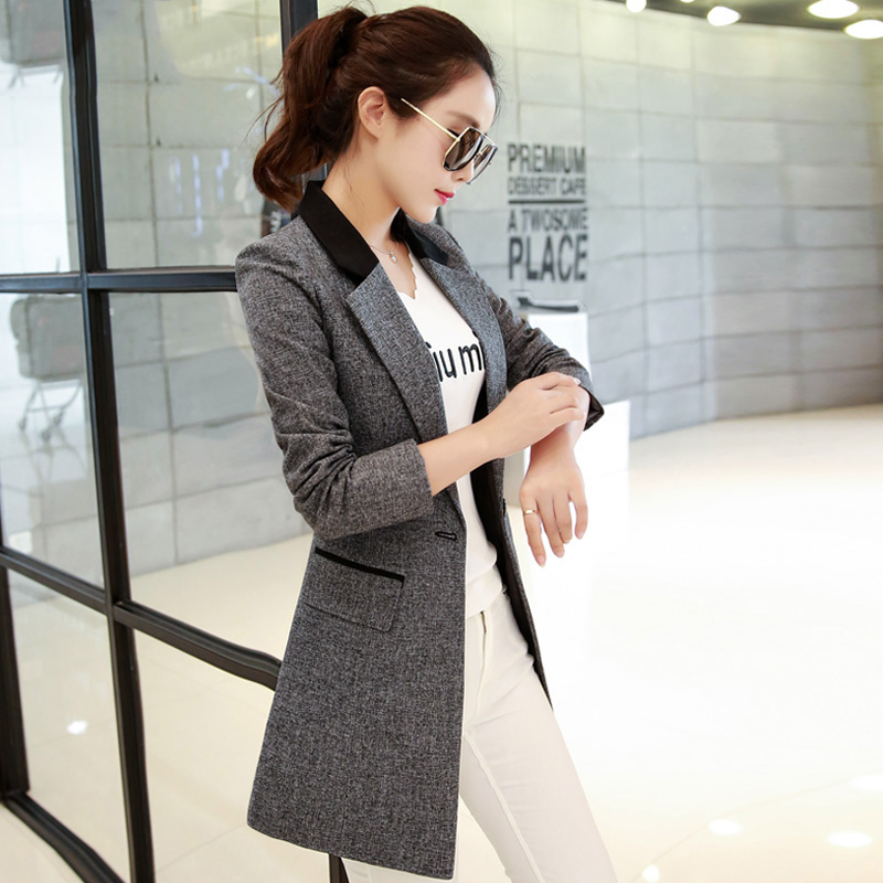 Chic net red Blazer Jacket Womens 2020 spring and autumn clothing Korean new slim casual fashion large womens top