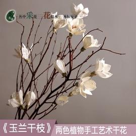 玉兰干枝干花花束干枝干树枝树装饰玉兰花仿真花卧室客厅落地天然图片