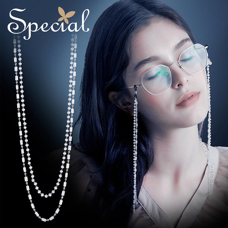 SPECIA 欧美气质衬肤显瘦时尚个性可调节眼镜链配饰暗藏的性感