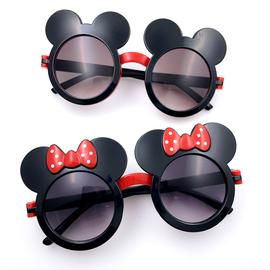 米奇米妮太阳眼镜迪士尼墨镜变色眼镜翻盖眼镜防紫外线网红儿童夏图片