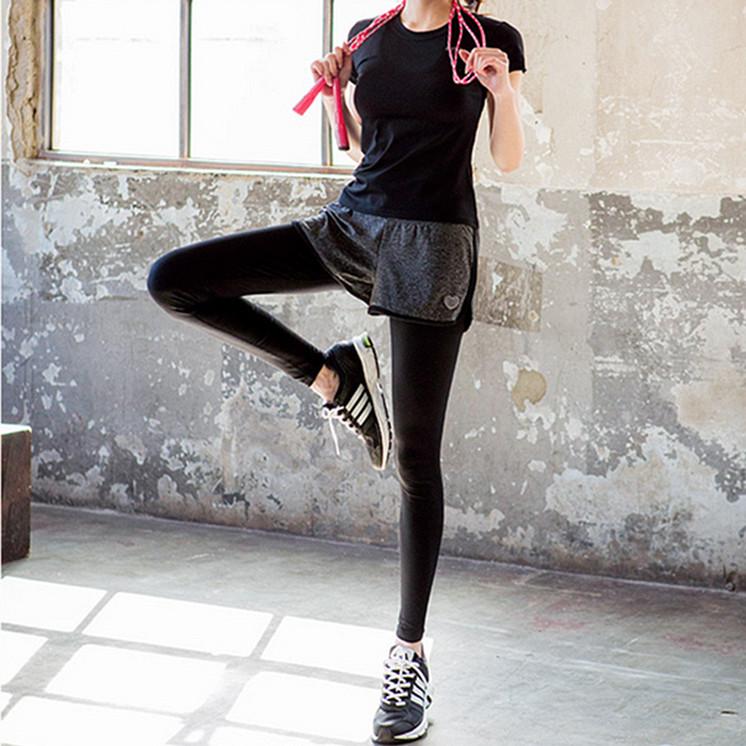 满49.00元可用29.1元优惠券韩版弹力运动大码健身瑜伽套装短裤