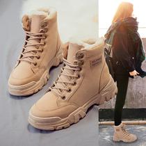 秋冬季新品坡跟圆头短靴女真皮女靴2020官方旗舰店女鞋TATADou