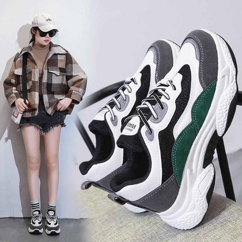 老爹鞋子女春季2020新款厚底休闲运动女鞋超火鞋子网红ins潮