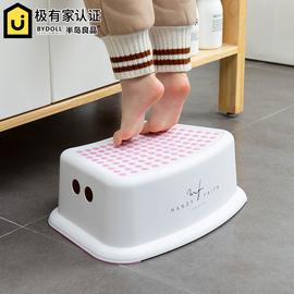 家用儿童踩脚凳宝宝洗手钢琴垫脚凳洗漱脚踏凳小凳子板凳防滑塑料