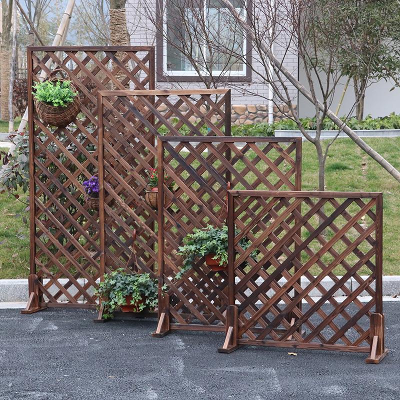 防腐木碳化户外庭院屏风隔断花架