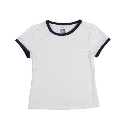 冰丝纯白短款t恤女短袖2019打底衫