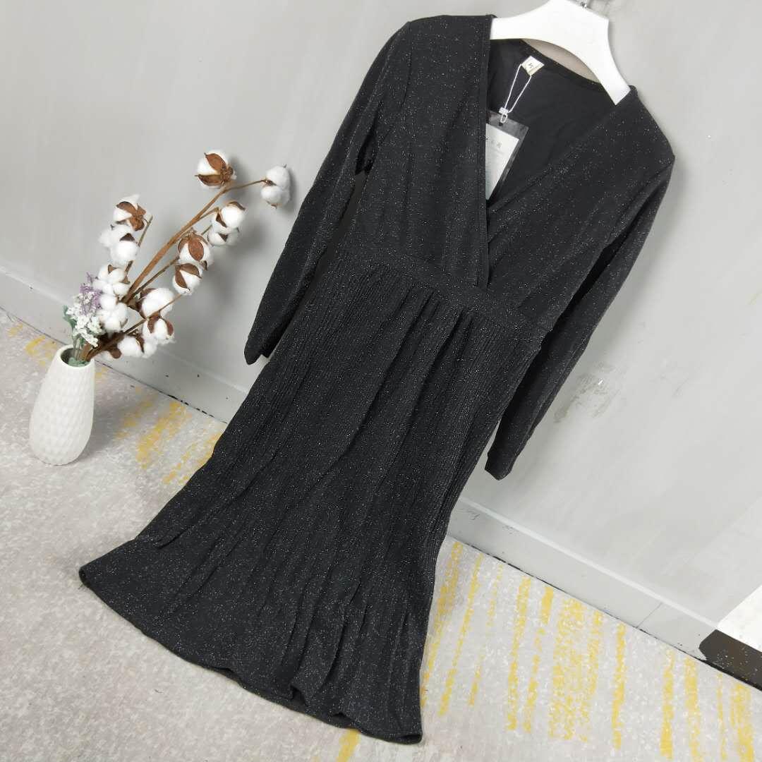 祈漫【5-7天发货】2018时尚百搭修身简约连衣裙F36-X0949整款2068