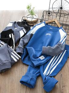 男童卫衣套装男孩运动套装春季新款卫衣套装儿童休闲服中大童