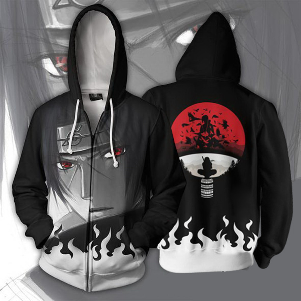 New fashion and handsome fire shadow 3D printing mens zipper sweater cardigan Hoodie Cosplay animation around