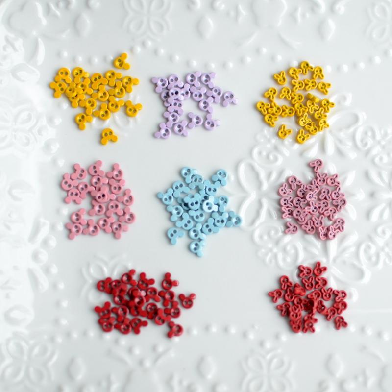 Color paint button, cute mini button BJD toy baby clothes super small alloy button 2.8 yuan 10