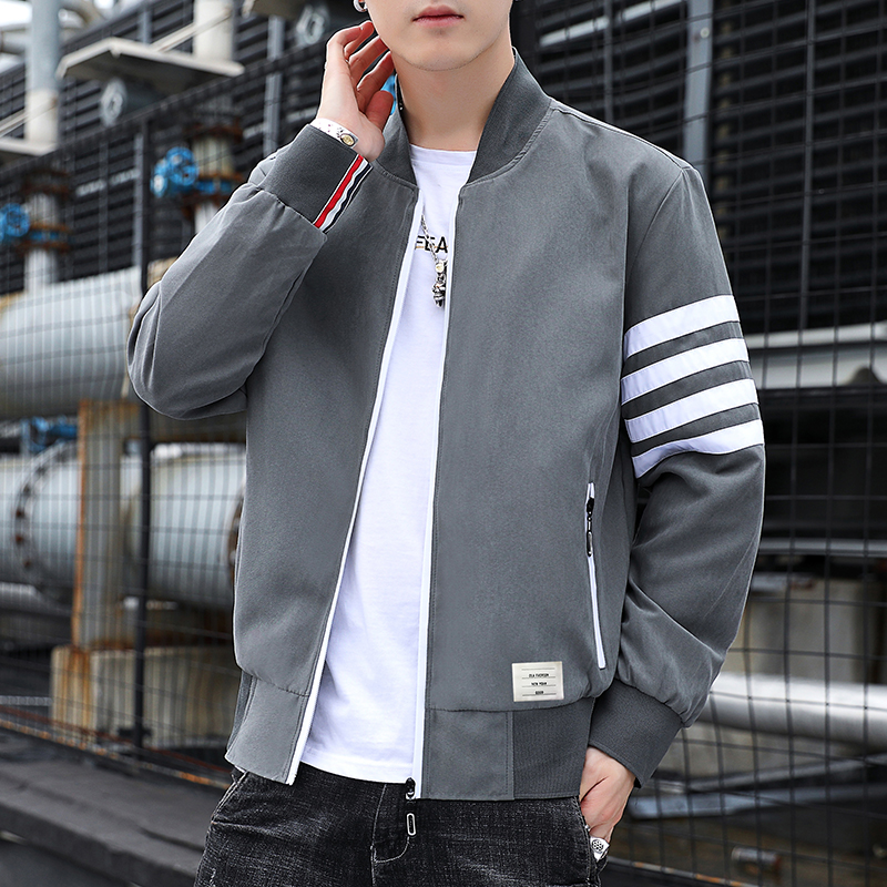 Autumn 2020 new mens casual fashion classic Korean youth coat windbreaker versatile Hooded Jacket