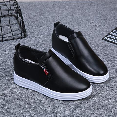 一脚蹬单鞋内增高小白鞋2021运动鞋