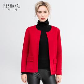 科尚双面羊毛呢子大衣短款小个子显高小妮子外套冬季零羊绒潮