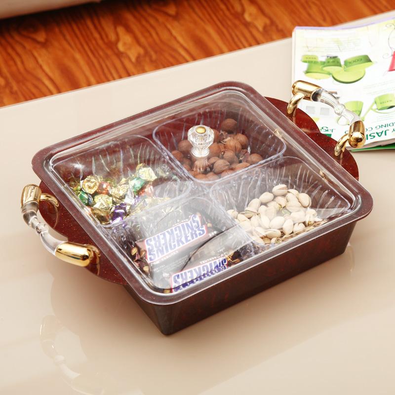 洋菓子箱の干し果物の皿は格があってお菓子の箱の家庭用のスイカの箱の客間の近代的なアイデアのプラスチックの果物の皿をかぶせます