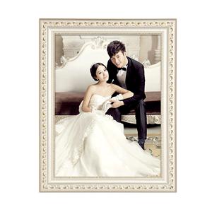 实木相框挂墙欧式a4 6 7 12 16 24寸婚纱照像框创意摆台画框定做