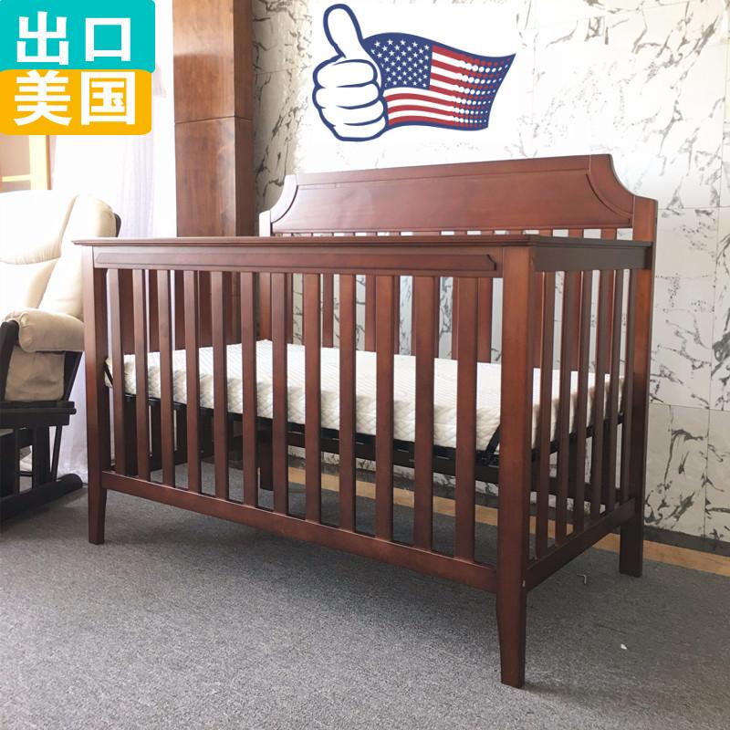 Выход сша высококачественный охрана окружающей среды сосна кровать для младенца дерево детская кроватка игра кровать новорожденных заклинание кровать почтой церемония взрыв моделей