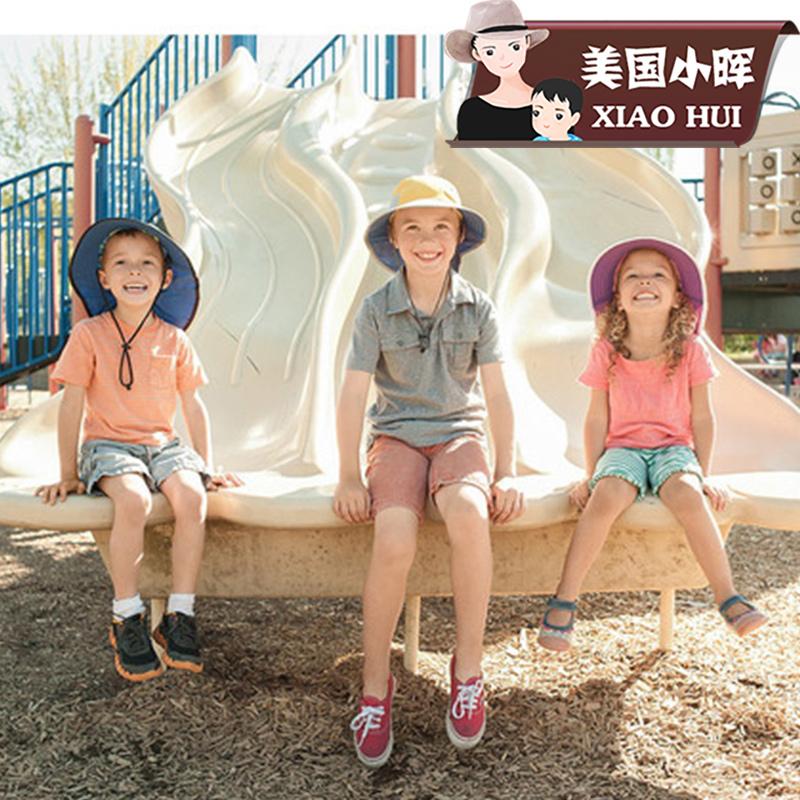 夏季遮阳帽美国Sunday afternoons儿童UPF50防晒帽子太阳帽男女宝
