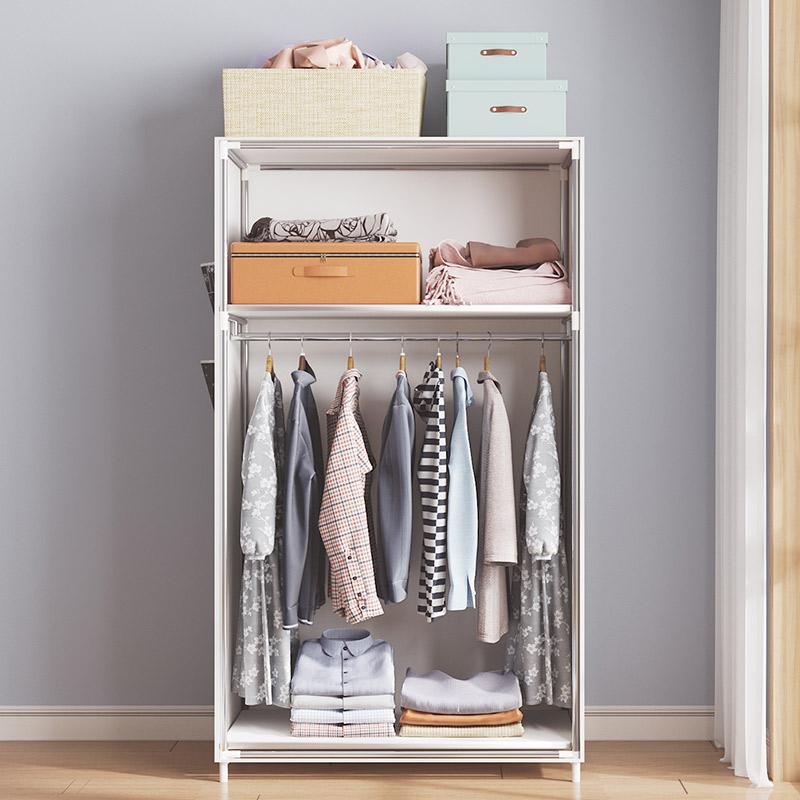 简易衣柜布衣柜儿童宿舍出租房用组装小柜子卧室家用衣橱现代简约