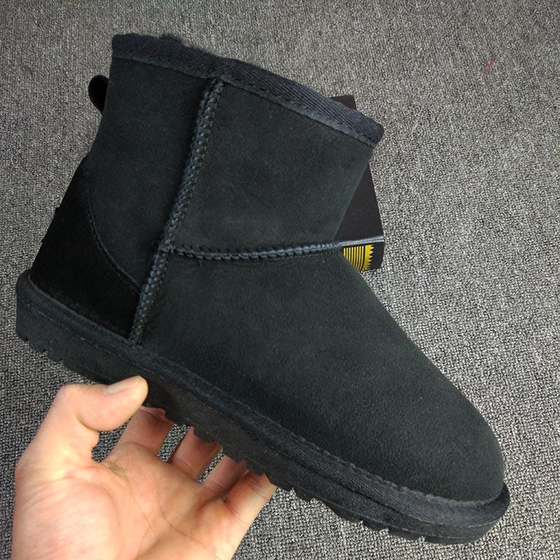 美国代购正品经典款短筒雪地靴女羊皮毛一体防水加绒保暖平底棉靴