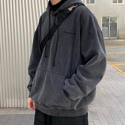 方寸先生连帽卫衣男2020秋冬新款韩版oversize宽松外套潮上衣男装