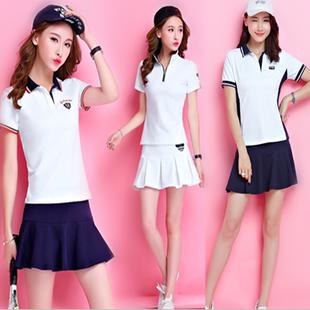 女夏2020短袖 短裙裙裤 网球服运动套装 休闲幼儿园教师园服运动套裙