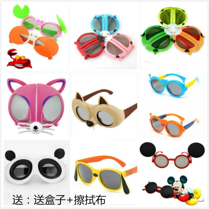 卡通儿童3D眼镜熊猫机器人海绵宝宝小猪多款小孩电影院3d眼送镜盒