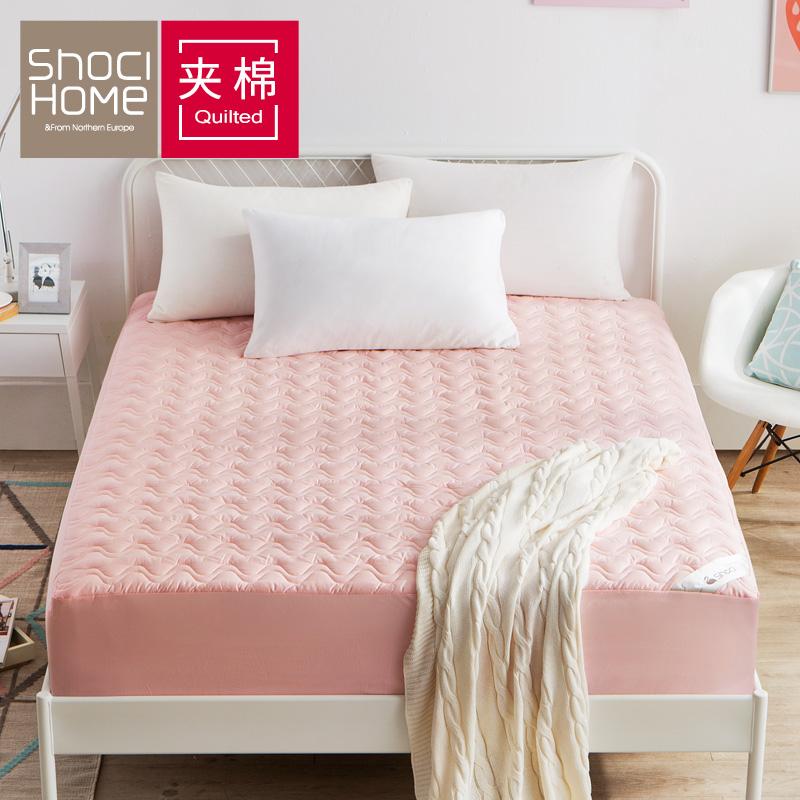 聚 床笠加厚�A棉 1.5/1.8米床套�坞p人床罩 防滑席�羲即�|保�o套