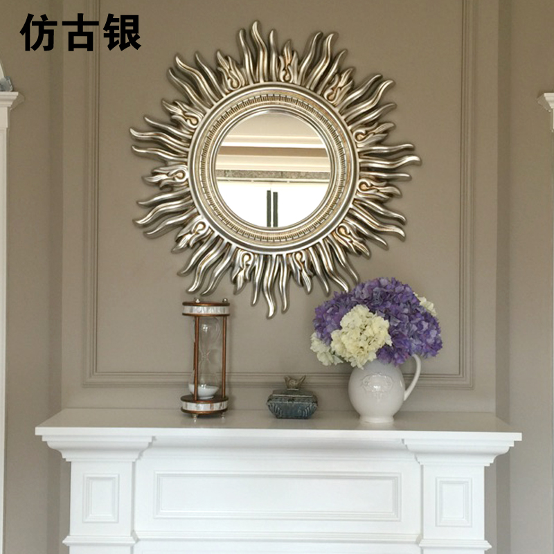 Modern European French living room decoration mirror background wall decoration wall hanging Sunglasses porch fireplace hanging mirror decoration