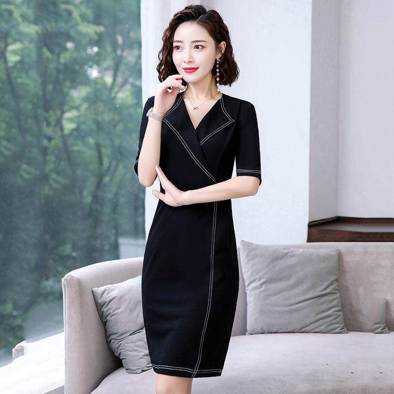 Ol professional dress 2021 new spring and summer womens wear medium length waist style dress show thin skirt