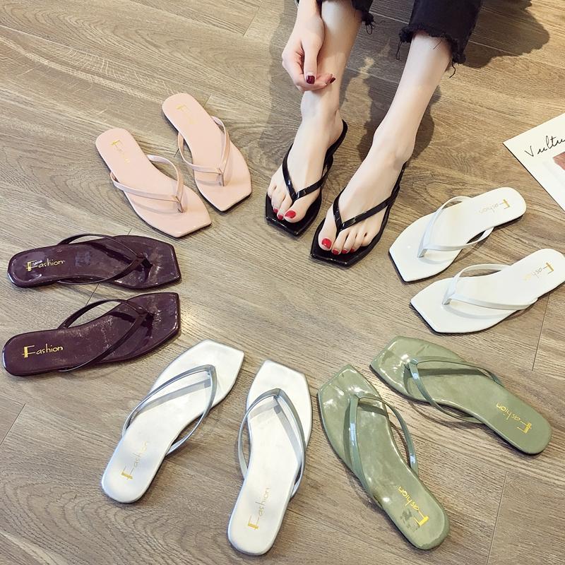 人字拖鞋女外穿夏季潮鞋时尚ins潮夏夹脚网红夏天2020新款凉拖鞋